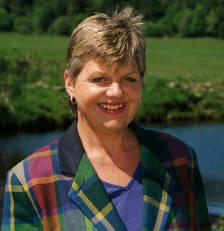 Image of Kathy Cameron whilst Tour Guiding in Scotland